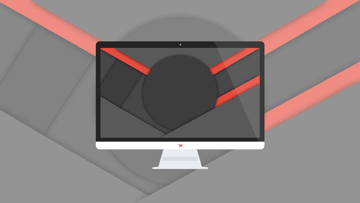 Minflat dark material design wallpaper 3 4k by dakoder for Material design wallpaper 4k