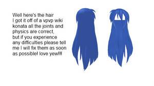 MMD konata hair by KekoKasane