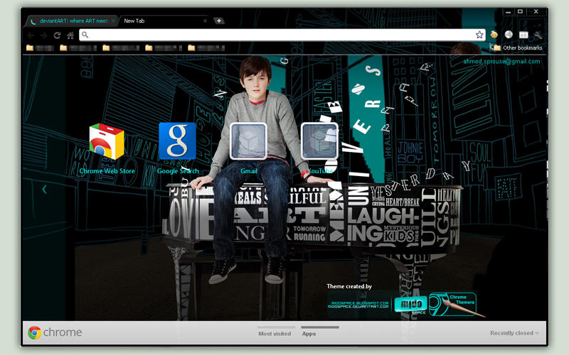 Greyson Chance at Google Chrome 'UPDATED and quot by MidoSpace