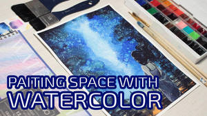 Speedpaint: Space with watercolor