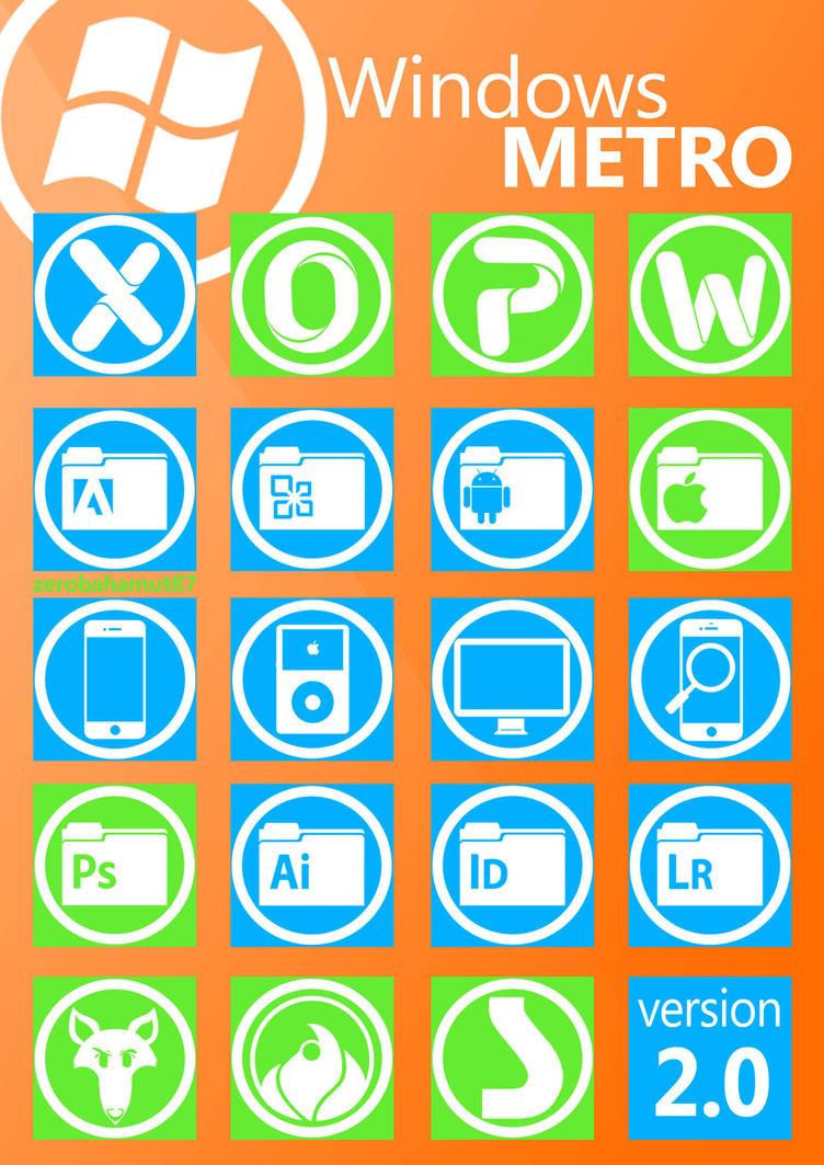 Windows Metro Icons v 2.0 by zerobahamut87