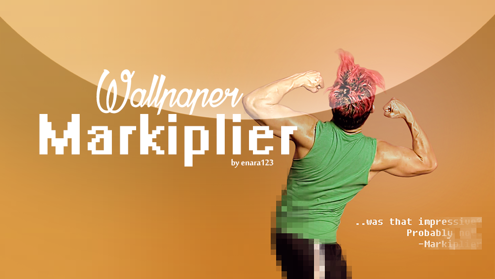 Wallpaper_Markiplier muscles by Enara123
