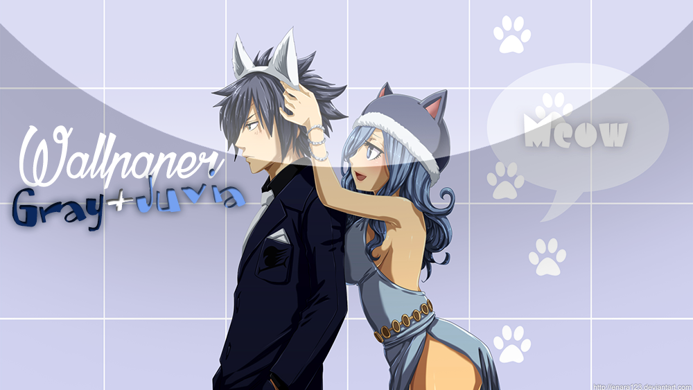 wallpaper gray and juvia kitty by enara123 on deviantart