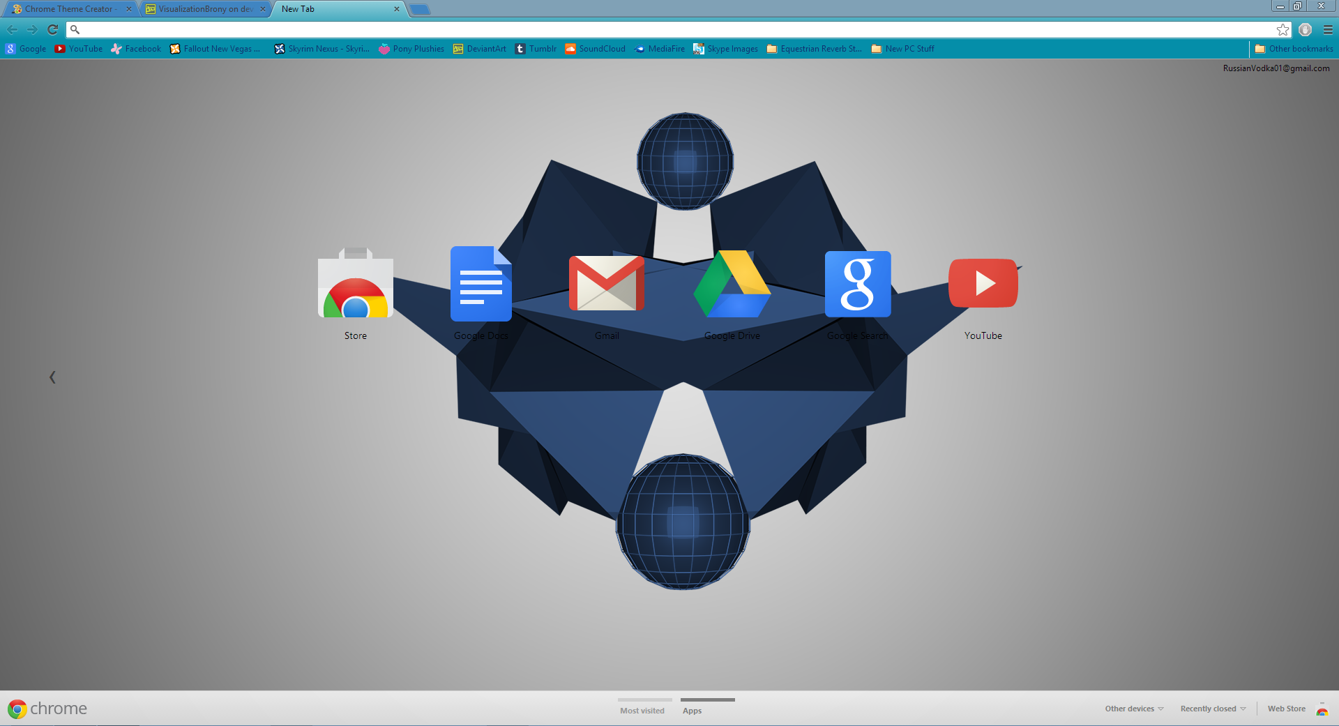 Fractal Google Chrome Theme by VisualizationBrony on DeviantArt