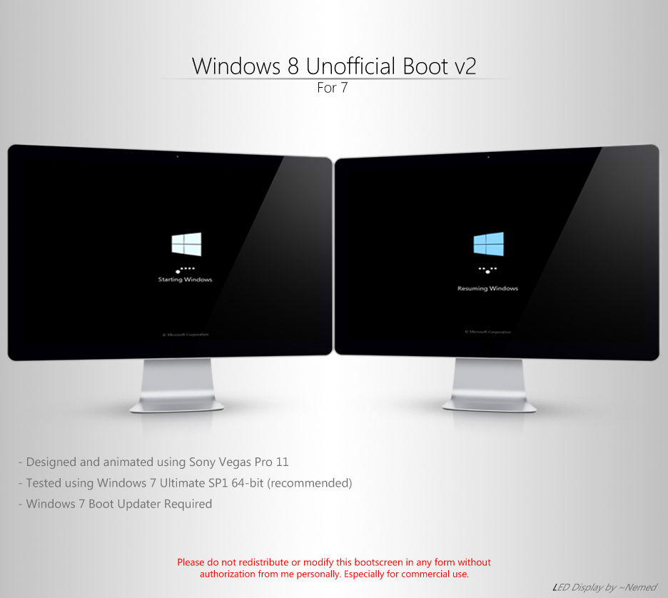 Windows 8 Unofficial Boot v2 for 7