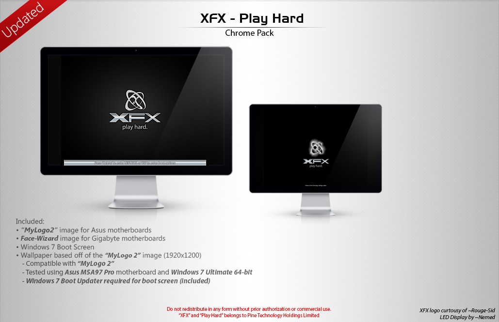 XFX - Play Hard [Chrome Pack] by LordReserei on DeviantArt