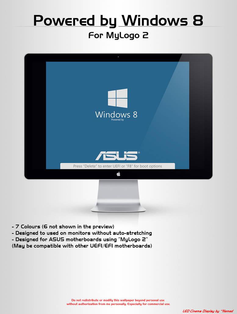 Powered by Windows 8 - MyLogo 2