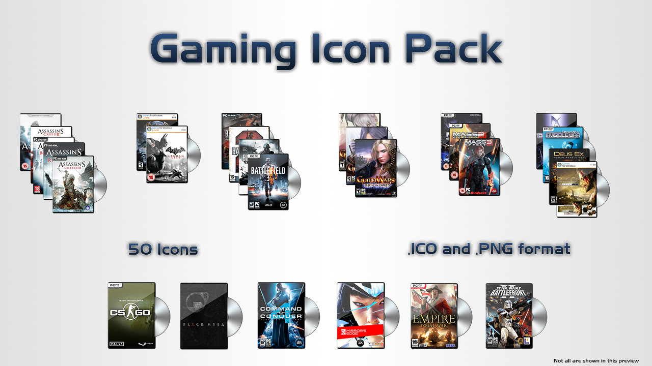 Gaming Icon Pack by LordReserei
