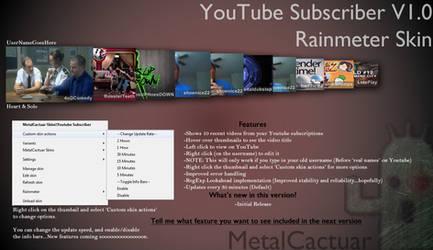 YouTube Subscriber v1.00 by MetalCactuar