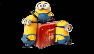 Minions with the suitcase