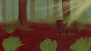 Dakotaraptor animation test