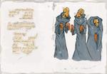 Old Manuscript Page - Monks