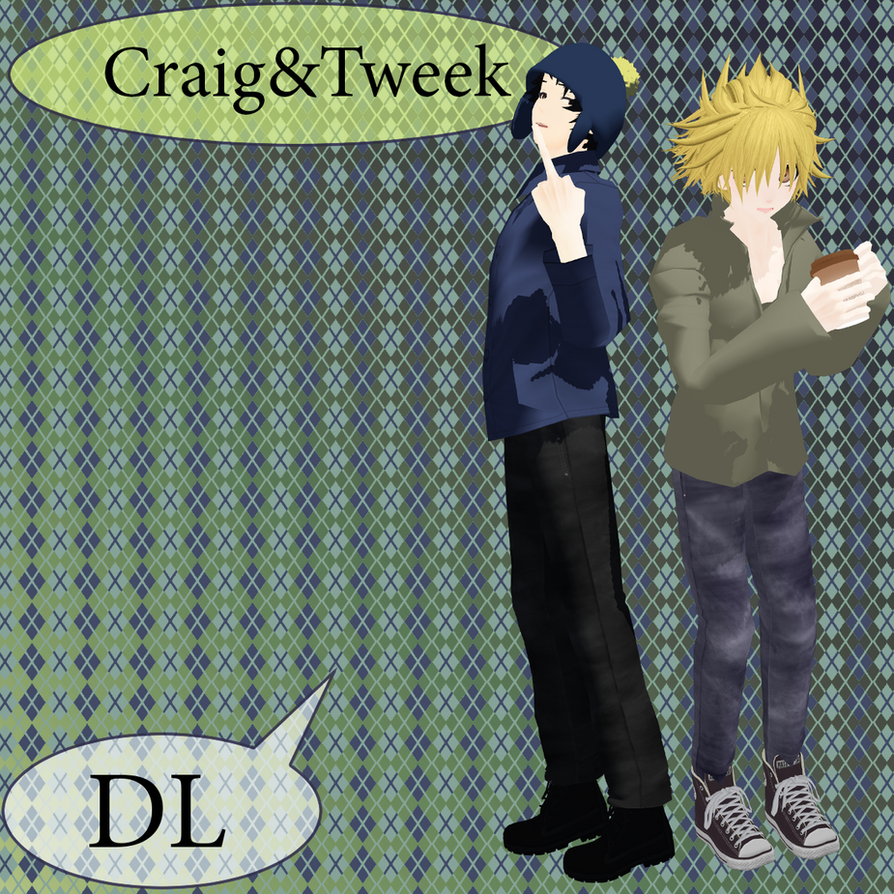 Craig and Tweek From Cartoon ,,South Park''DL by mirAYUto