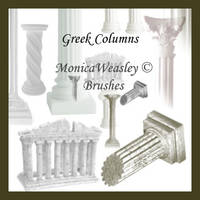 Brushes - Greek Columns by Stock-gallery