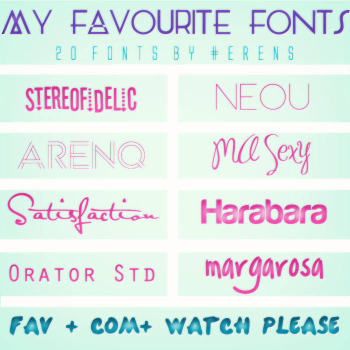 Download My Favourite Fonts Pack (20 FONTS) by erenfenty-07 on ...