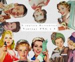 Retro Vintage PNGs 8pics