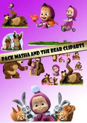 PACK MASHA AND THE BEAR CLIPARTS