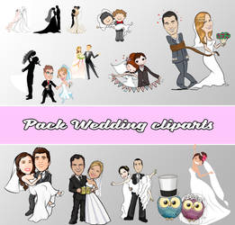 PACK CLIPARTS WEDDING