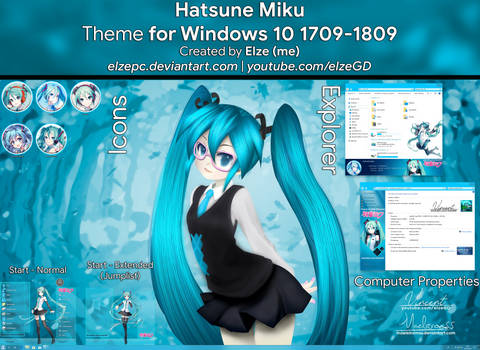 Hatsune Miku Theme - Windows 10 1709-1809