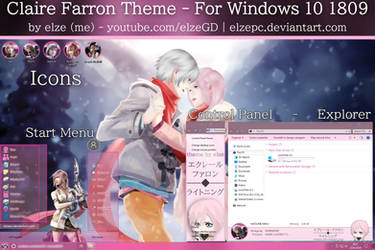 Claire Farron Theme - Windows 10 1809 by Elze (me)