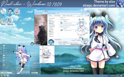 Noel-chan Theme - Windows 10 1809 by Elze (me)