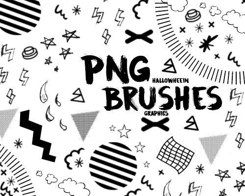 18 Pcs. Png Brushes