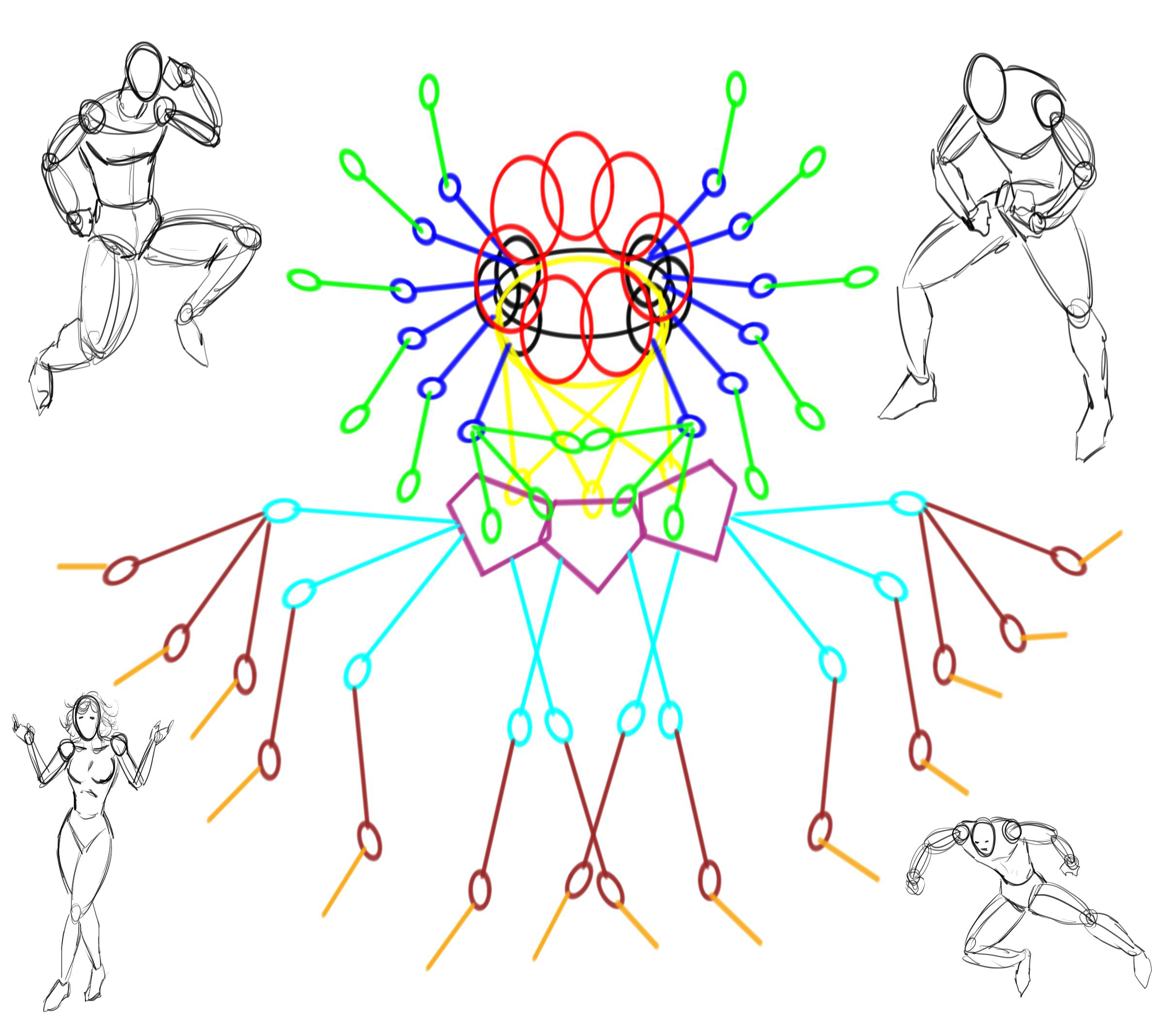 Drawing Aid for Character Poses by Rob Marzullo by