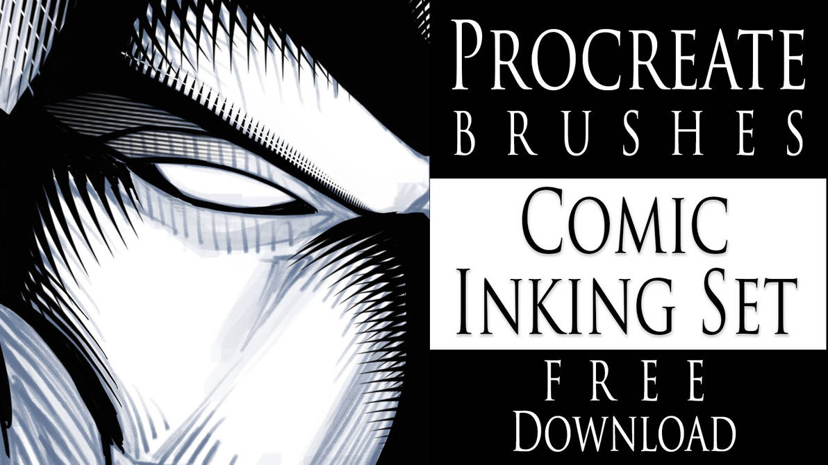 Procreate Brushes - Comic Inking Set - Download by robertmarzullo on