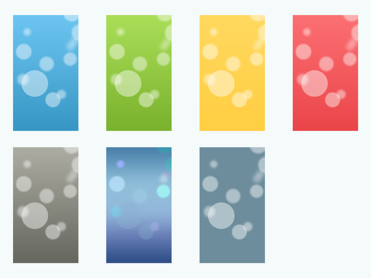 ... iOS 7 Wallpapers in multiple colors by TheGoldenBox
