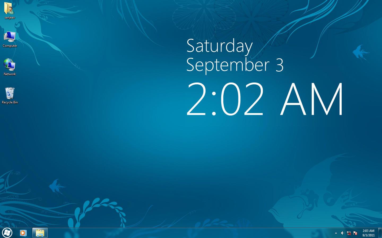 clock for xp vista 7 by sanjeev18 customization skins themes windows 7 ...
