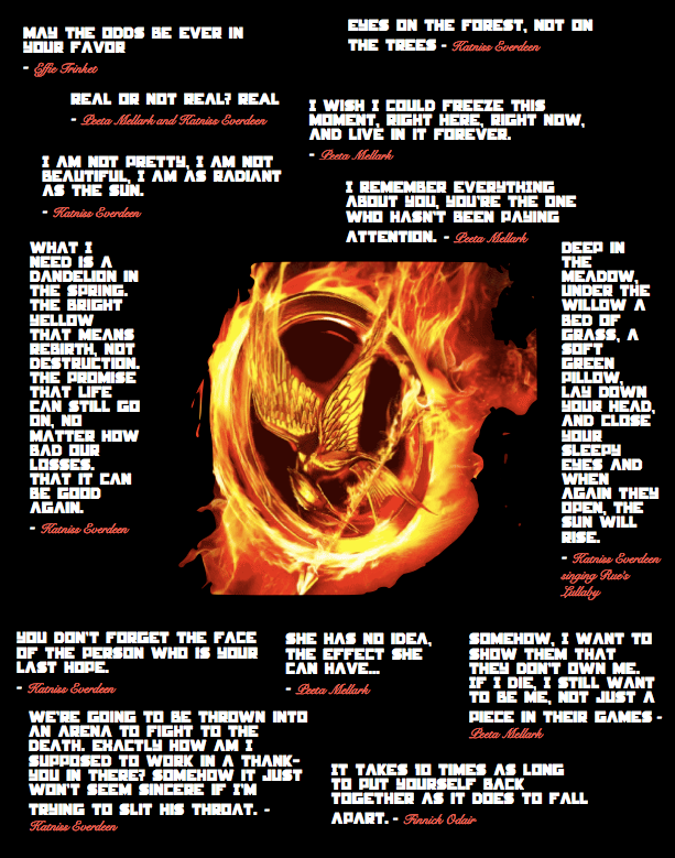Quotes About Hunger Endearing Hunger Games Quotesgracelessdesires On Deviantart