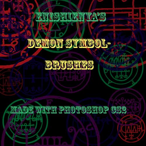 Demon Symbol Brushes