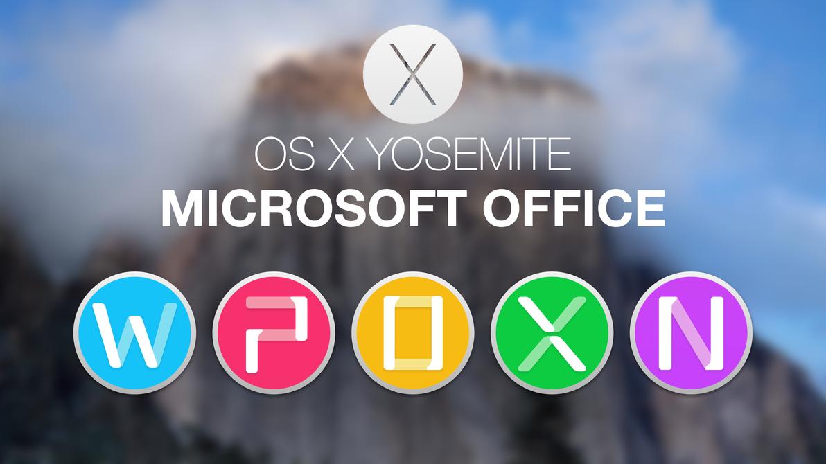Microsoft Office 2011 Yosemite Style 2 by hamzasaleem