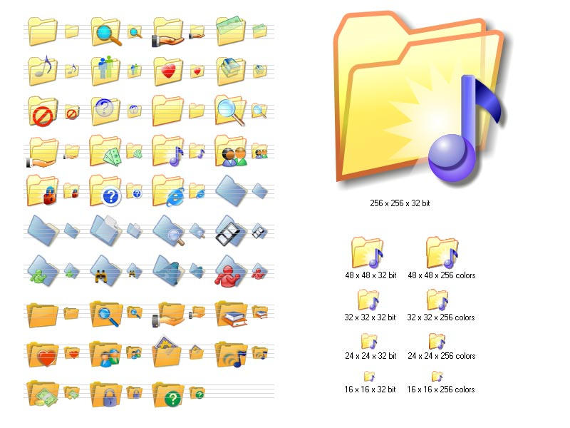 Folder Icon Set by bestwebicons58