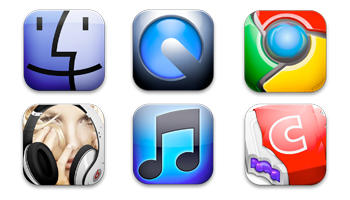 Square Mac OSX Icons by oalouba