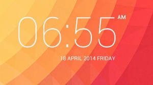 Kitkat Digital Clock for XWidget by Sychno7