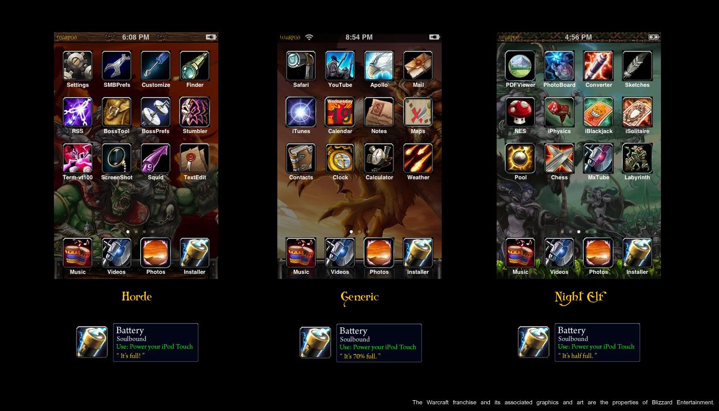 Warcraft iPod touch theme