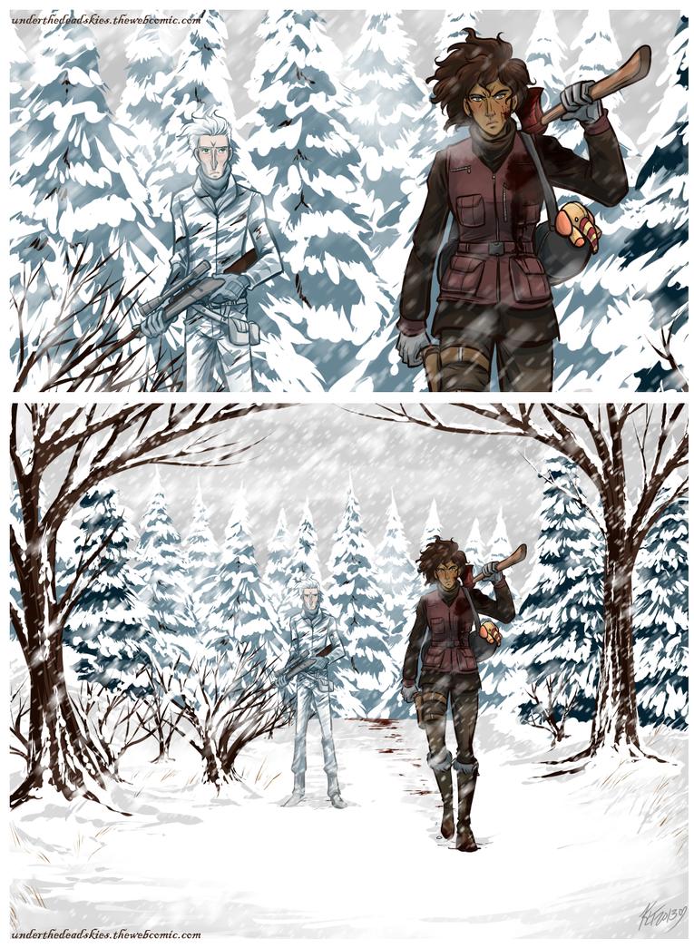 Under the Dead Skies - Winter Wallpaper by lunajile