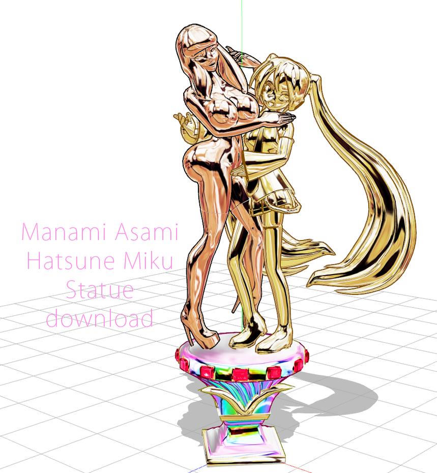Asami Miku Statue Download by chatterHEAD
