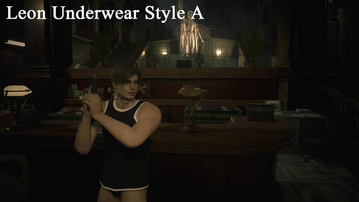 RE2 - Leon Underwear Set - Style A by ogami4 on DeviantArt
