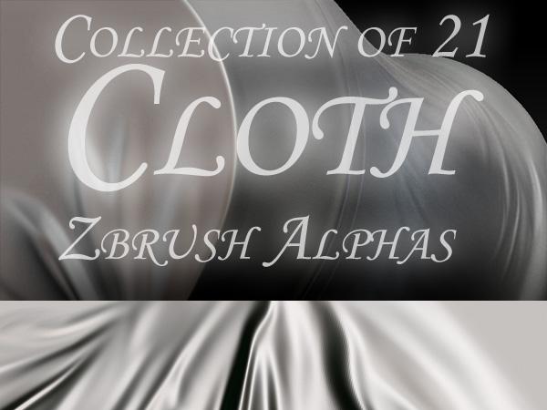 21 Cloth Zbrush Alphas by bongistka on DeviantArt