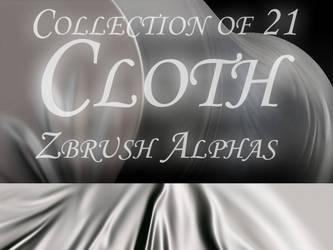 21 Cloth Zbrush Alphas by bongistka