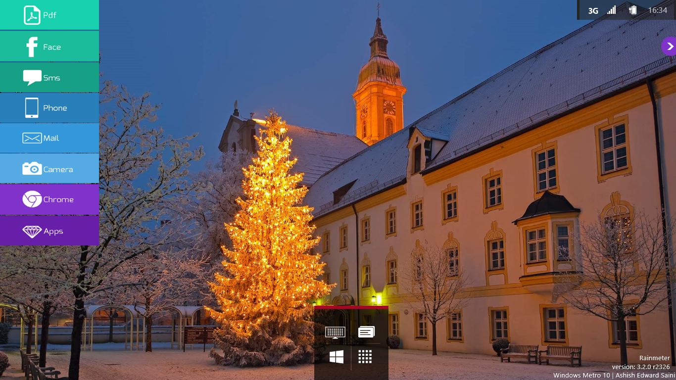 Windows Metro 10 Christmas by RMNSkin
