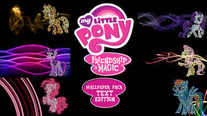 My Little Pony FIM Wallpaper Pack Text Edition