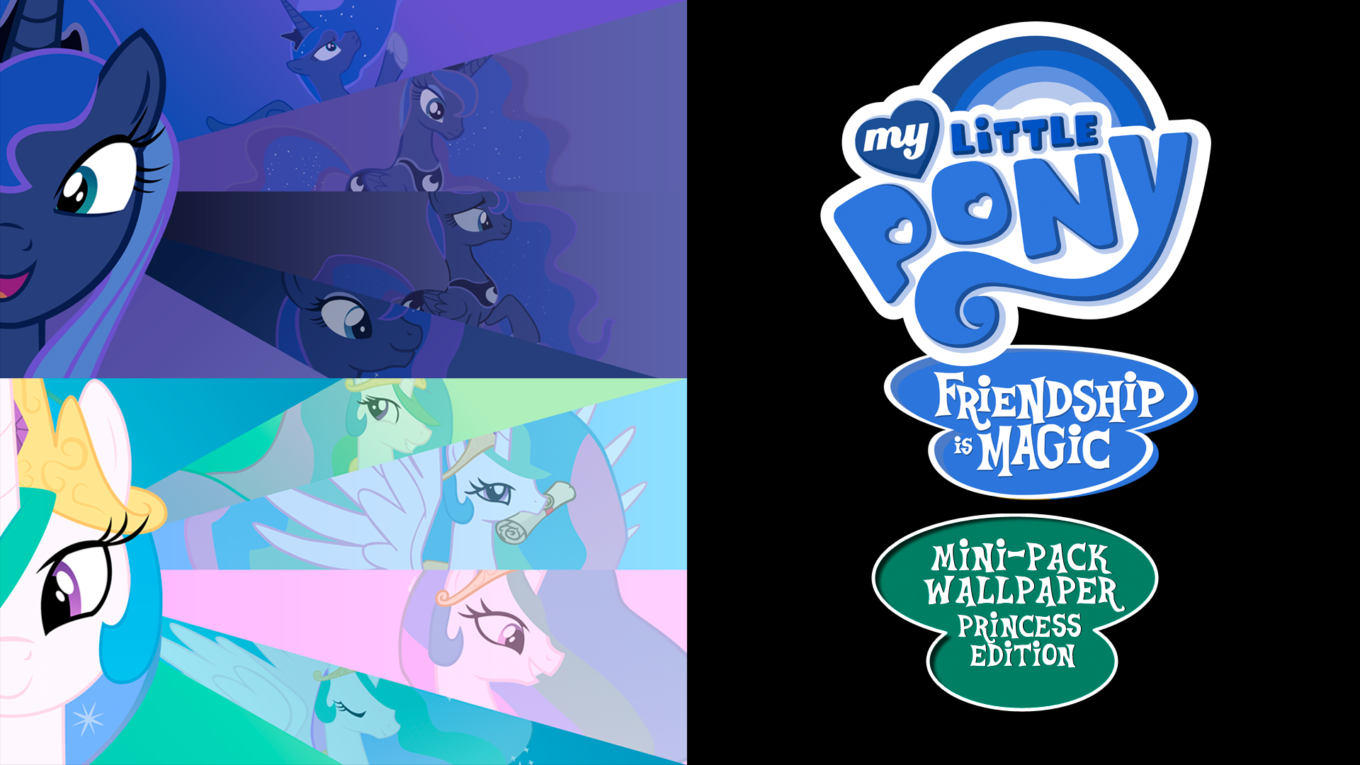 my little pony fim mini-pack wallpaper princess edbluedragonhans