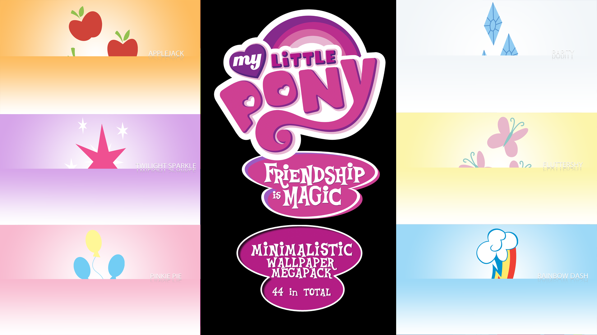 My Little Pony FIM Minimalistic Wallpaper Megapack