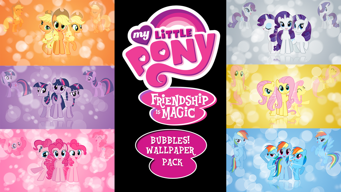 My Little Pony FIM 'Bubbles!' Wallpaper Pack by BlueDragonHans
