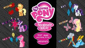 My Little Pony: FIM 'Text Name' Wallpaper Megapack