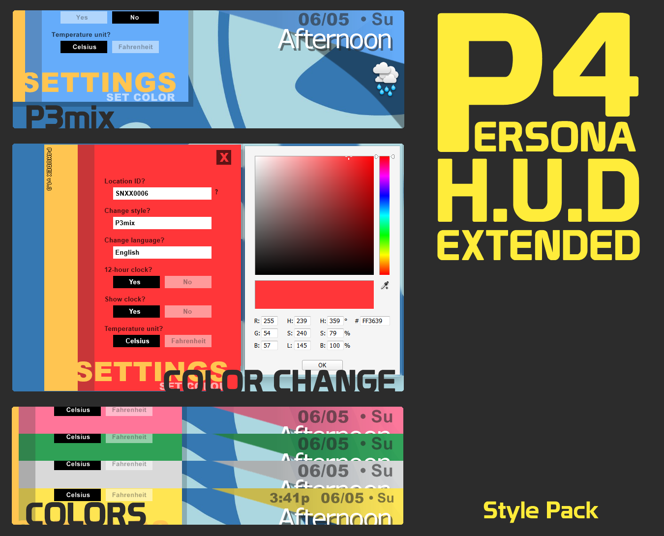 P3mix for P4 HUD Extended by iron2000