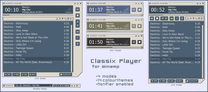 Classix Player for Winamp